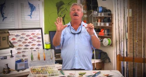 Man talking about fishing lures.