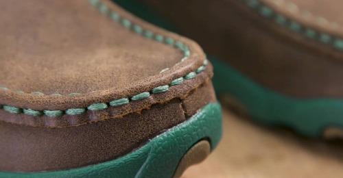 Shoe toe closeup